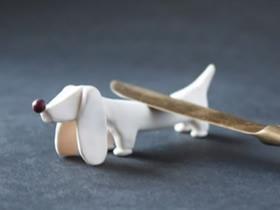 怎么做粘土筷子架图解 腊肠狗筷子架手工制作
