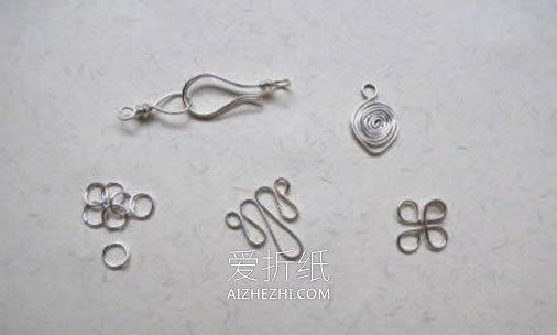 金属丝怎么做项链坠 简单金属丝项链坠DIY- www.aizhezhi.com