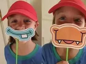 怎么做大嘴巴面具图片 卡纸制作动物嘴巴面具
