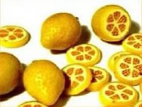 怎么做粘土柠檬片图解 超轻粘土制作柠檬片