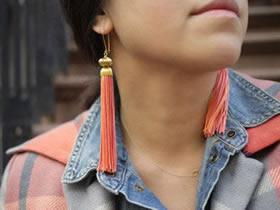 怎么做流苏耳环的方法 绳子手工制作耳环图解