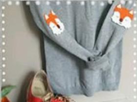旧的衣服破洞怎么改造 做个狐狸头缝上就好
