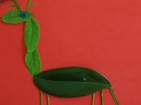 怎么做树叶贴画长颈鹿 树叶手工制作长颈鹿