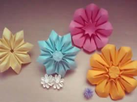 花折纸步骤图_折纸花手工制作方法大全_爱折纸网