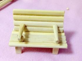 怎么做长椅模型图解 一次性筷子制作椅子模型