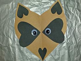 怎么做狐狸头粘贴画 儿童卡纸手工制作狐狸头