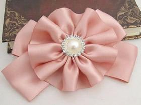 怎么做纯色缎带发卡 缎带手工制作蝴蝶结发饰