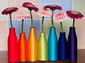 怎么做彩色玻璃花瓶 玻璃瓶手工制作花瓶图解
