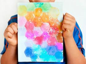 怎么用棉纸做装饰画 棉纸印染画手工制作方法