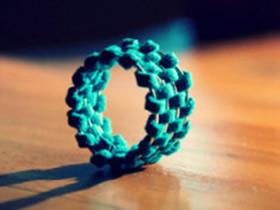 怎么做编织风戒指图解 皮绳编织指环手工制作