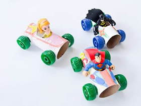 怎么做玩具小汽车图解 卷纸芯制作儿童玩具车