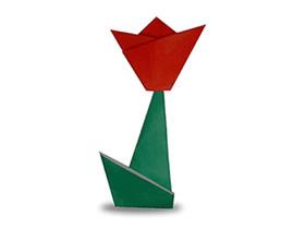 怎么折纸玫瑰花最简单 幼儿手工折纸玫瑰花