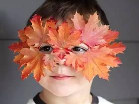 怎么做餐盘面具图解 儿童枫叶面具手工制作