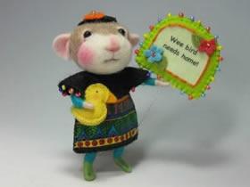 享受被讨好!超级萌的羊毛毡小动物图片