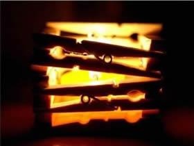 怎么做木夹子烛台图解 木夹子手工制作烛台