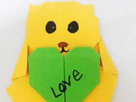 怎么折纸简单小熊图解 儿童手工折纸熊的方法