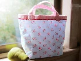 怎么做可爱便当袋图解 手工布艺便当袋子制作