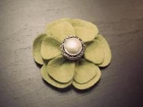 怎么做优雅大气胸花 手工布艺花朵胸花制作