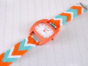 怎么编织手表表带图解 三色绳编表带的编法