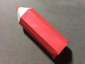 怎么折纸铅笔的方法 立体铅笔的折法步骤图