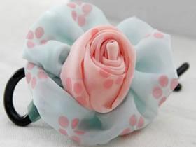 怎么做不织布花朵发夹 布艺手工制作头花发饰
