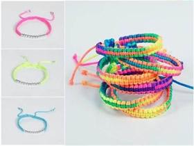 怎么编织四股绳手链 美丽彩虹手链的编法图解