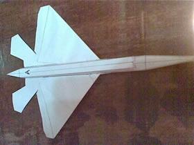 怎么做漂亮战斗机模型 纸飞机模型手工制作