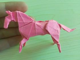 怎么折小松英夫的马 超复杂立体马的折法图解