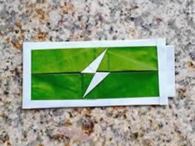 怎么折纸电量图标图解 手机电量标志的折法