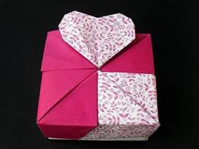 怎么折带爱心纸盒图解 有爱心礼品盒的折法