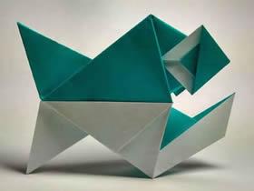 怎么折纸食人鱼图解 手工水虎鱼的折法步骤