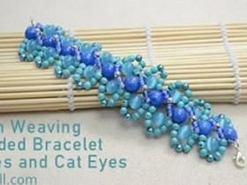 怎么编织精致串珠手链 华丽手链手工串珠教程