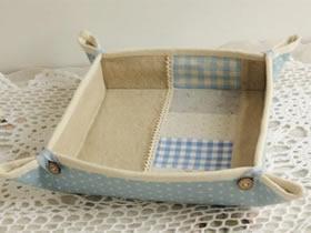 怎么简单做布艺收纳盒 手工不织布方形收纳盒