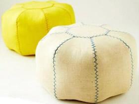 怎么做南瓜坐垫的方法 手工布艺南瓜形坐垫