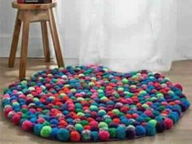 怎么做毛线球地毯图解 毛线手工制作地毯教程