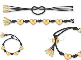 怎么编织金饰品图解 金饰手链的编法教程
