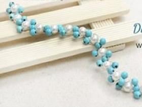 怎么编织清新串珠手链 手工双色串珠手链编法