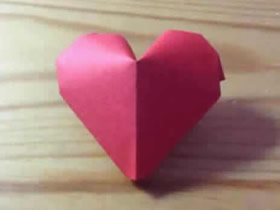 怎么折纸红色立体爱心 手工立体心的折法图解