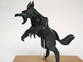 怎么折纸立体狼人图解 复杂狼人的折法过程