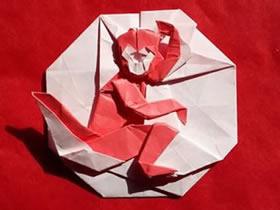 怎么折纸十二生肖猴子 手工猴子图案的折法