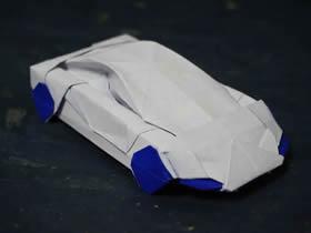 怎么折纸小轿车图解 立体小汽车的折法图解