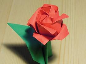 怎么折纸漂亮川崎玫瑰 手工折纸川崎玫瑰图解