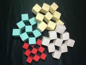怎么折会跳舞的方块 组合方块玩具的折法图解