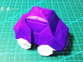 怎么折纸小汽车图解 可爱轿车的折叠方法过程