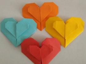 怎么折纸心心相印图解 手工心心相印的折法