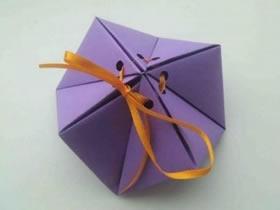 怎么折纸多面体喜糖盒 手工漂亮喜糖盒的折法