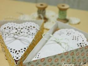 怎么做三角形包装盒 卡纸手工制作烘焙包装盒