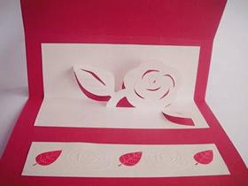 怎么做立体玫瑰花贺卡 适合教师节和母亲节