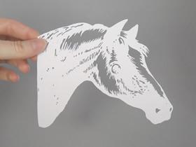 手工写实风的平面纸雕作品图片