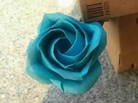 怎么折非卷心川崎玫瑰 详细手工川崎玫瑰折法